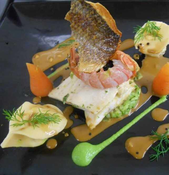 halibut and langoustine tortellini